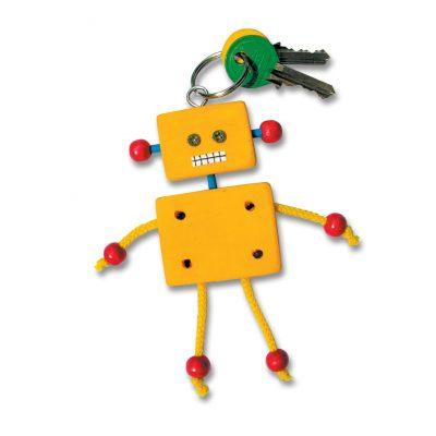 дървен ключодържател робот