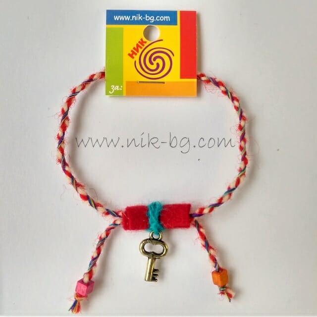 Golden Key - bracelet martenitsa