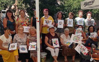 Пенсионери в Пловдив рисуваха нейрографики